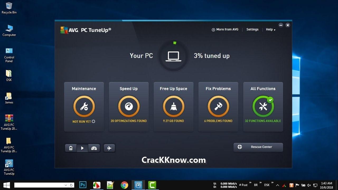 AVG PC TuneUp 2020 Crack With Working Keygen & Keys {Latest}