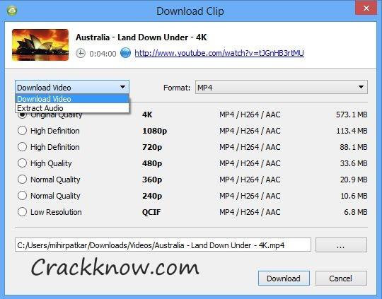 4K Video Downloader 4.12.3.3650 Crack Free Torrent Download 2020