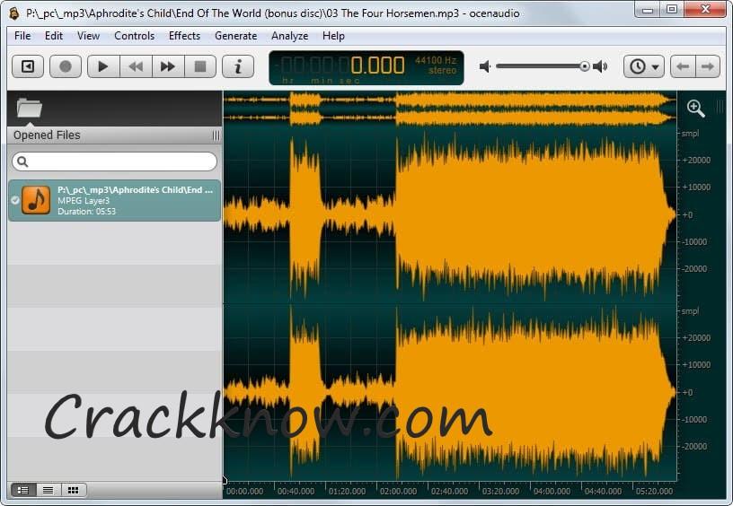 Ocenaudio 3.7.16 Crack + Full Version Free Download (Working Keys)